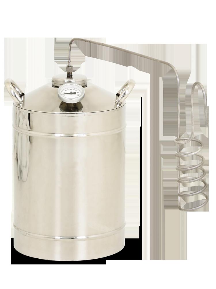 Самогонный аппарат деревенский премиум 12л емкость из нержавейки для самогонного аппарата